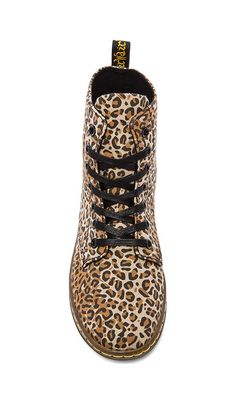 Two of my favorite things: 1. Leopard 2. Dr. Martens