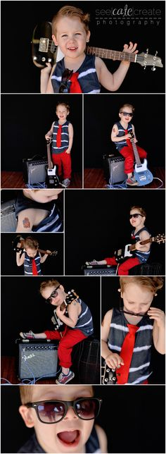 seecatecreate photography little rockstar photoshoot