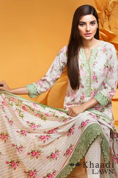 Khaadi Stylish Summer Lawn Dresses Collection 2016-2017