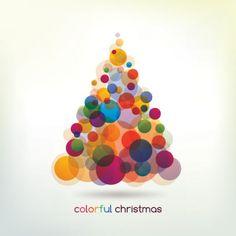 Árvore de Natal coloridas