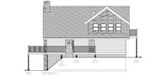 House Plan 99961   A-Frame Plan with 1915 Sq. Ft., 3 Bedrooms, 2 Bathrooms