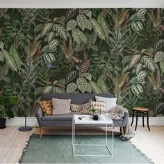 Removable Wallpaper Green leaf Floral, Peel and Stick Wallpaper, Wall mural, Reusable wall art, Self Old Wallpaper, Self Adhesive Wallpaper, Peel And Stick Wallpaper, Rebel, Create Your Own Wallpaper, Briar Rose, Traditional Wallpaper, Outdoor Furniture Sets, Outdoor Decor