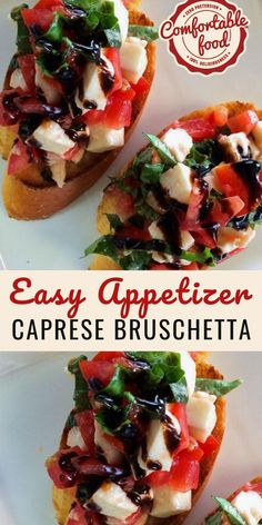 This bruschetta recipe is SO good. The bread makes it to eat as finger food, and provides the perfect crunchy base to contrast the fresh salad topping Best Appetizer Recipes, Finger Food Appetizers, Yummy Appetizers, Best Bruschetta Recipe, Party Finger Foods, Party Appetizer Recipes, Bruschetta Caprese, Easy Finger Food, Finger Food Recipes