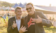 Celebrating Bestival weekend with a snap of the Chuckle Brothers at last year's festival... And they're back again this year!