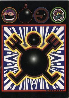 Boomerang Cards Advertising Postcard, Boomerang Supports Art