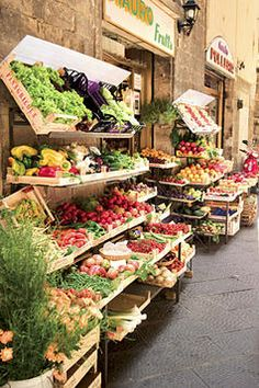 Hna parada de fruta y hortalizas en italia | Mijn twee favoriete dingen gecombineerd: shoppen en eten