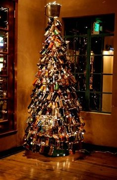 Beer can Christmas tree. Maybe next year.... :)