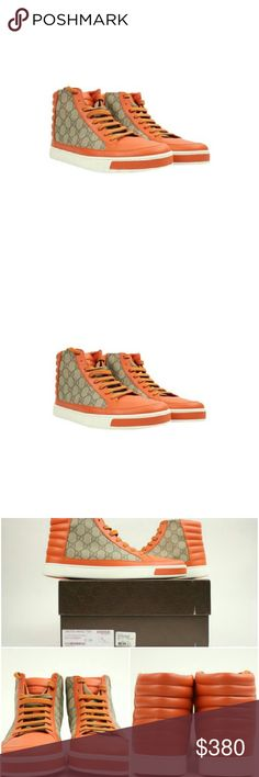 """""""Gucci Tessuto  Supreme 36gga617 Athletic Shoes """" This item will ship immediately!!  Previously owned.  Made In: Italy  Men's Size: 9 or US 10  Women's Size: 12 SKU : 36gga617 Gucci Shoes Athletic Shoes"""