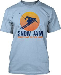 Winter Ski Retreat: This silhouette design is great for ski trips however it can be customized for your specific need by changing the wording, images, colors or locations.  Just let us know how we can customize it for your Ski Trip!  Winter Ski Retreat T-Shirt Design #149
