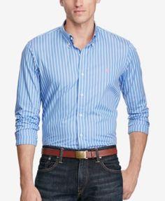POLO RALPH LAUREN Polo Ralph Lauren Men'S Striped Poplin Shirt. #poloralphlauren #cloth #down shirts