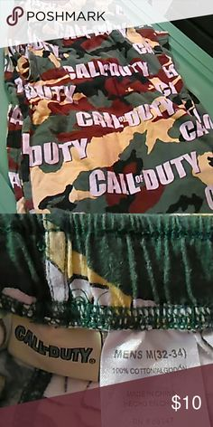 Pajama bottoms, mens medium Camo, call of duty pajama bottoms Call Duty Underwear & Socks Boxers