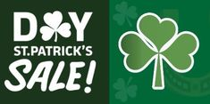 Advertize your St. Patrick's Day sale with this Shamrock-themed template.