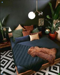 Life, Death, and Plants in Moody Bedroom « Home Decoration Source by couponxcodesign Decor plants Design Loft, Loft Interior Design, House Design, Interior Ideas, Studio Design, Patio Design, Interior Paint, Design Model, Bohemian Bedroom Decor