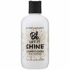 Bumble and Bumble Let It Shine Conditioner Travel Size (2oz) by Bumble and Bumble. $10.50. A shine-boosting conditioner Formulated with sunflower-powered conditioning ingredients to enhance natural luster Refines hairs texture & detangles hair to allow it to seize the light Hair appears sleeker & more manageable