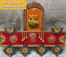Clay Wall Art, Mural Wall Art, Murals, Art N Craft, Craft Stick Crafts, Diy And Crafts, Foam Board Crafts, Diwali Decoration Items, Indian Wall Art