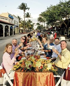 Savor the Avenue - the longest table served on Atlantic Avenue featuring a four-course feast served by the top Delray restaurants.