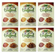 Wellness TruFood Grain Free Natural Dog Food Complement 3 Flavor Variety 6 Pouch Bundle: (2) Chicken Beef Carrots (2) Chicken Liver Broccoli and (2) Chicken Salmon Pumpkin 2.8 Oz. Ea. (6 Pouches)