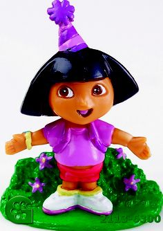 Dora The Explorer Cake Cupake Toppers Decorations By Wilton Wilton Cake Decorating, Wilton Cakes, Dora The Explorer, Party Treats, Party Printables, Safe Food, Hand Painted, Christmas Ornaments, Item Number
