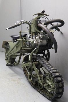 Mercier 1937 Moto Chenille 350cc. I need a whole fleet of these for my army of evil henchmen to use while they chase James Bond through the snow.
