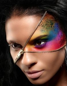 65 Halloween Makeup Ideas to Try This Year via Brit + Co #coolmakeupideas