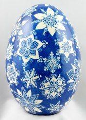 Snowflake Pysanky Goose Egg