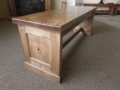 New Mission Style Bench Craftsman Benches, Craftsman Furniture, Furniture Projects, Stool, Table, Home Decor, Decoration Home, Room Decor, Tables
