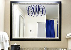 Three Initial Decal  Monogram Decal  Wall by DavisVinylDesigns, $15.00