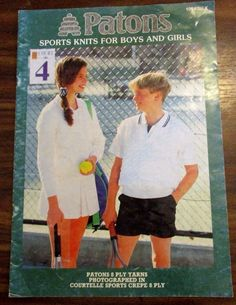 Patons Sports Knits For girls and Boys in 8 ply pattern book no. 1094 #patons