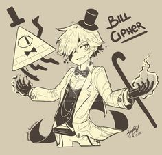 Bill Cipher (Human Version) by SandraGH.deviantart.com on @DeviantArt