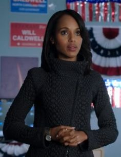 "Giorgio Armani - Textured Wool Jersey Asymmetrical Zip Jacket as seen in Season 2 episode 15 ""Boom Goes the Dynamite"""