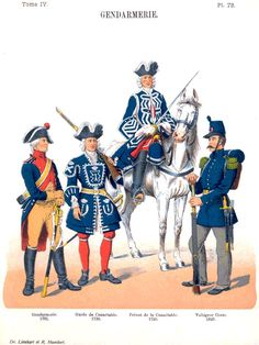 Жандармерия. Uniformes de I'Armee Francaise 1690-1894 Lienhart & Humbert
