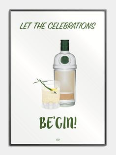 poster jokes pun - let the celebrations be gin - plakat Gin Quotes, Fact Quotes, Gin Puns, Box Wedding Invitations, Gin Bar, Drink Table, Quote Posters, Funny Signs, Birthday Wishes