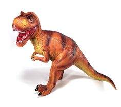 Tiranosaurio Rex gigante! Para impresionar al más valiente. Este t-rex se convertirá en su compañero de juegos inseparable. Alto: 35 cm! Largo: 47 cm! Material: Plástico flexible Edad: a partir de 3 años Ref. 30107 Precio: 32.00 € IVA incluido