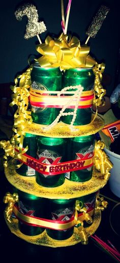 Another beer cake by made for my friend Ariannas 21st bday. :)