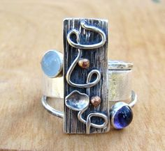 Sterling Silver Family Tree Stacking Birthstone by RootsJewelry, $104.00