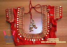 Designer blouse designs with beautiful ideas for neck and back. Browse latest blouse models, saree, patterns online on Happy Shappy Wedding Saree Blouse Designs, Best Blouse Designs, Blouse Neck Designs, Wedding Blouses, Mirror Work Blouse, Maggam Work Designs, Designer Blouse Patterns, Blouse Models, Thing 1