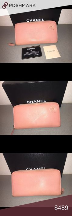 61dc3c396a6 Auth chanel Camilla zippy around wallet clutch selling my authentic chanel  pink camellia zip around zippy