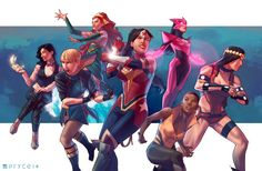 All-female Justice League by Pryce14 on DeviantArt