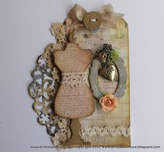 Sizzix Die Cutting Inspiration and Tips: Sewing Room Vintage Style Tag