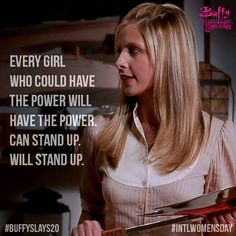 The 20th anniversary of the premiere of Buffy the Vampire Slayer happened in the same week as International Women's Day 2017. Very nice.