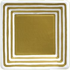 Party Supplies: gold stripe border dessert plates - pack of 8
