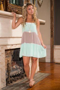Ice Cream Sunday Dress, Mint