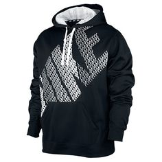 Men's Nike KO Block Pullover Hoodie | FinishLine.com | Black/White