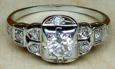 Antique Vintage .46ct Transitional Cut Diamond by DiamondAddiction, $450.00