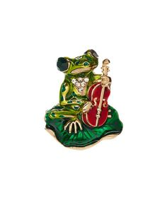 Look what I found on #zulily! Green Frog & Fiddle Brooch #zulilyfinds