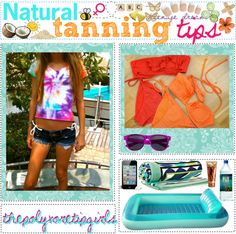 """""""NATURAL TANNiNG TiPS ♥"""" by thepolyvoretipgirls ❤ liked on Polyvore"""