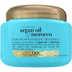 - OGX Moroccan Argan Oil Renewing Treatment instantly restores shine and softness while strengthening hair. Derived from the southwest region of Morocco, argan oil protects from heat styling and UV da