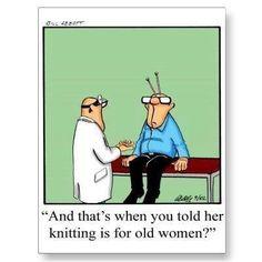Knitting humor.