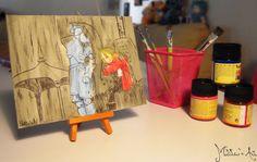 Fullmetal Alchemist canvas hand painted by Matita's Art