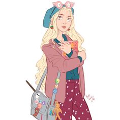 Everything Harry Potter ❤ liked on Polyvore featuring harry potter, art, c luna lovegood, filler and harrypotter